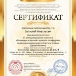 Сертификат проекта infourok.ru № 281102