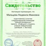 Свидетельство Зимний калейдоскоп№191735577