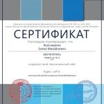 Сертификат проекта infourok.ru № АA-1043350