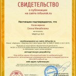 Сертификат проекта infourok.ru № ДБ-163352